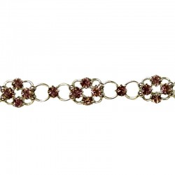 Lilac Diamante Lucky Flower Fashion Bracelet