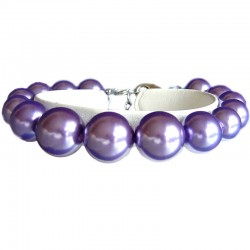 Fake Pearls Simulated Imitation Costume Jewellery Bracelets, Fashion Women Girls Gift, Graduated Purple Faux Pearl Bracelet