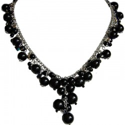 Black Pearl Timeless Chain Dangle Necklace