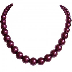 Graduated Fuchsia Pearl Necklace