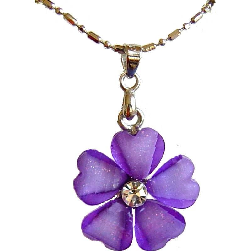 LOVELY Rhinestone BIG Royal BLUE Petals FLOWER Statement Necklace