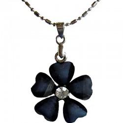 Cute Costume Jewellery Accessories, Fashion Women Teenage Teen Girls Small GiftBlack Rhinestone Daisy Flower Pendant Necklace