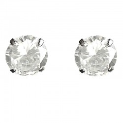 Unisex, Women & Men Costume Jewellery, Bling Fashion Cheap Fake Diamond Earring Studs, Clear Diamante 10mm Stud Earrings