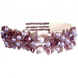 Lilac Pearl Beaded Elastic Bracelet