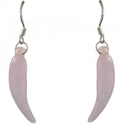 Fashion Women Purple Costume Jewellery, Lavender Jade Chilli 925 Sterling Silver Hook Drop Earrings