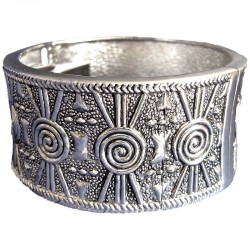 Sliver Plated Eygptian Chunky Bangle