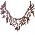 Dusky Purple Bead Chandelier Cascade Bib Statement Necklace
