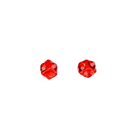 Small Tiny Costume Jewellery Mini Earring Studs, Women Girls Accessories, Simple Cute Fun Red Diamante 3D Dice Stud Earrings