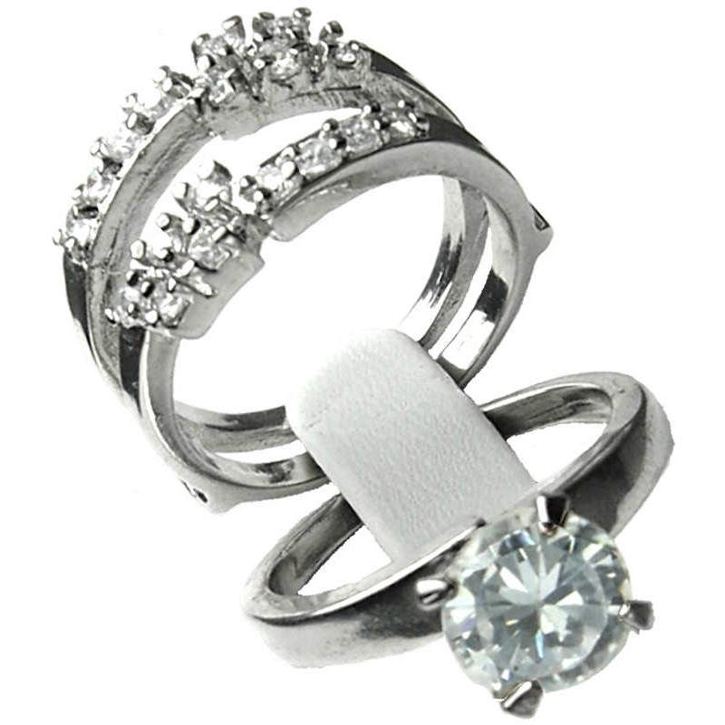 Costume Jewellery Two Piece Rings2 in 1 Interchangeable Ring Duo Set