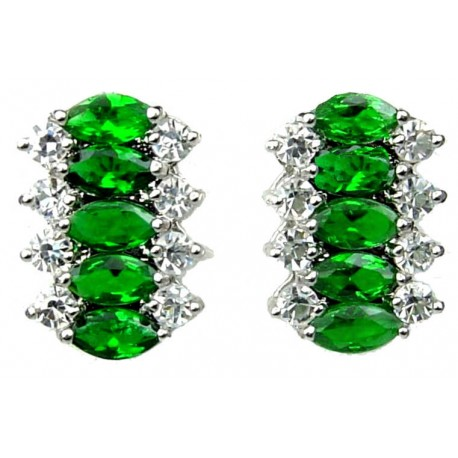 Fashion Jewellery Dangle Earrings Woman Costume Jewelry Uk Emerald Green Teardrop Rhinestone Clear Diamante