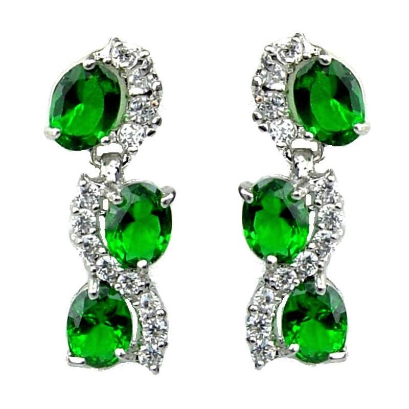 Womens Pearl Rhinestone Crystal Drop Dangle Chandelier Earrings Jewelry