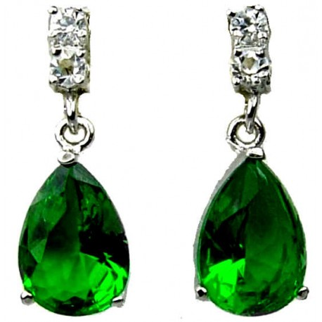 Wedding Costume Jewellery|Fashion Jewelry Wedding Gift UK Emerald Green Teardrop Rhinestone Clear Diamante  sc 1 st  Fashion Jewellery Online & Shop Bridal Gifts|Buy Green Classic Costume Jewelry Dangle Earrings UK