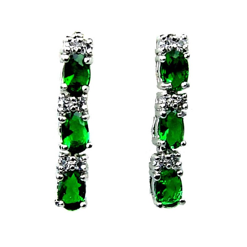 Small Costume Jewellery Fashion Petite Jewelry short drop earrings UK Emerald Green Oval. Loading zoom  sc 1 st  Fashion Jewellery Online & Buy Petite Jewellery|Shop Small Green Crystal Drop Costume Earrings UK