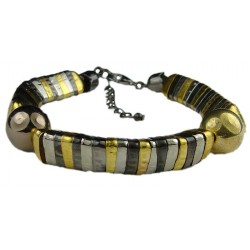 Hip Hop Costume Jewellery, Fashion Bracelets, Egyptian Style Mixed Coloured Metal Stacked Beaded Cool Fashion Bracelet