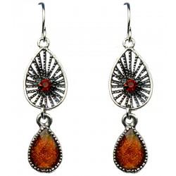 Chic Women Costume Jewellery; Brown Teardrop Earrings, Fashion Jewelry Earrings UK, Short Drop Earrings, Jewelry Accessories