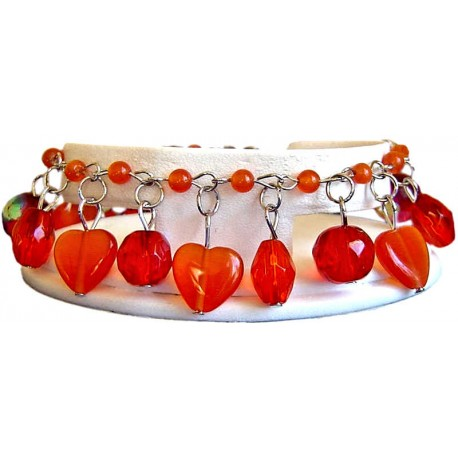 Costume Jewellery Accessories, Red Fashion Jewelry Bracelets UK, Women Girls Gifts, Cute Gift, Red Dangle Bead Bracelets