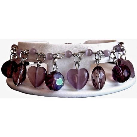 Costume Jewellery Accessoies, Fashion Jewelry Bracelets UK, Women Girls Gift, Purple Dangle Bead Bracelets, Cluster Bracelet