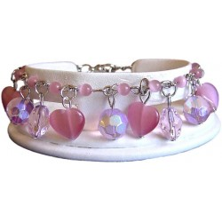 Costume Jewelry Accessoies UK, Pink Fashion Jewellery Bracelets, Women Girls Gift, Pink Dangle Bead Bracelets, Cluster Bracelet