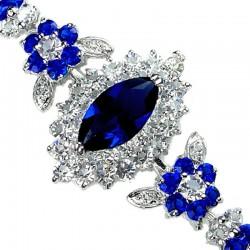 Royal Blue Costume Jewelry Bracelet UK, Teardrop Diamante Jewellery, Dressy Jewellery Bracelet, Women Jewellery Bracelets Gifts