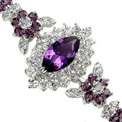 Fashion Dressy Jewellery, Purple Teardrop Diamante Bracelets, Costume Jewellery Bracelet, Women Bracelets, Diamante Jewelry UK