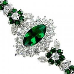 Green Fashion Jewellery Bracelets, Emerald Green Teardrop Bracelet, Diamante Jewellery Bracelet, Costume Jewelry Bracelets UK