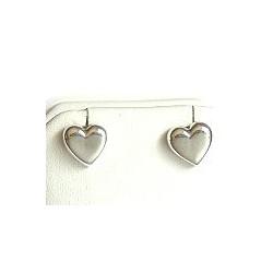 Fashion Women Gift, Costume Jewellery, Love Silver Heart Shape 925 Stud Earrings