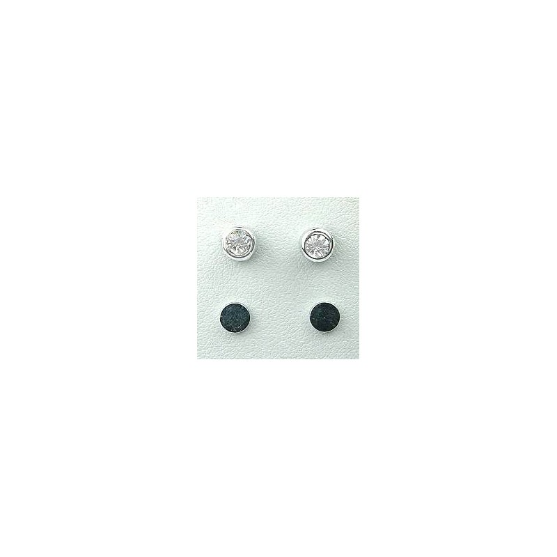 Clear Diamante Small Magnetic Clip On Studs Non Pierced Stud Earrings