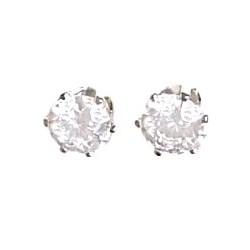 Unisex Costume Jewellery, Bling Fashion Cheap Fake Diamond Earring studs, Clear Diamante 8mm Stud Earrings