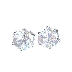 Unisex, Wmen & Men Costume jewellery, Bling Fashion Cheap Fake diamond Earring Studs, Clear Diamante 9mm Stud Earrings