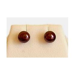 Brown Pearl 5mm Stud Earrings