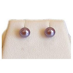 Purple Pearl 4mm Stud Earrings