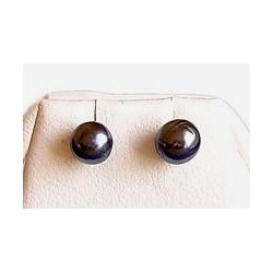 Small Costume Jewellery, Tiny Earrings Studs, Grey Faux Pearl 5mm Stud Earrings