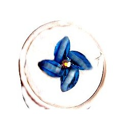 Small Costume Jewellery Rings, Fashion Young Women Girls Little Dainty Gifts, Cute Royal Blue Rhinestone Blossom Lucky Flower Ri