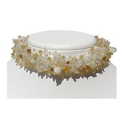 Silk Fabric Mixed Ivory Bead Collar Choker