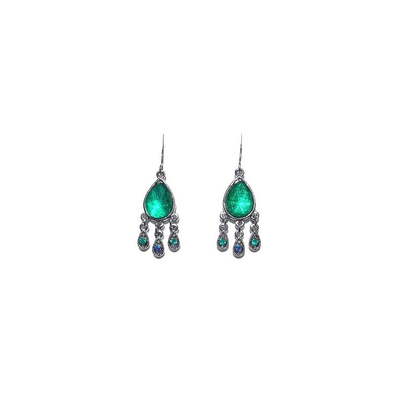 Clic Costume Jewellery Accessories Fashion Women Dainty Small Gift Green Diamante Dangle Teardrop Earrings Loading Zoom