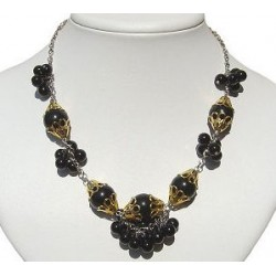 Black Cluster Fashion Pearl Necklace