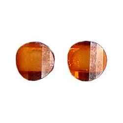 Small Costume Jewellery Studs Rubber Stoppers, Fashion Women Girls Accessories, Brown Circle Plastic Pin Stud Earrings
