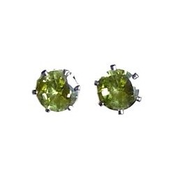 Simple Small Tiny Costume Jewellery Mini Earring Studs, Fashion Women Girls Accessories, Green Diamante 7mm Stud Earrings