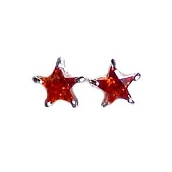 Small Tiny Costume Jewellery Earring Studs, Fashion Women Girls Accessories, Simple Red Diamante Star Stud Earrings