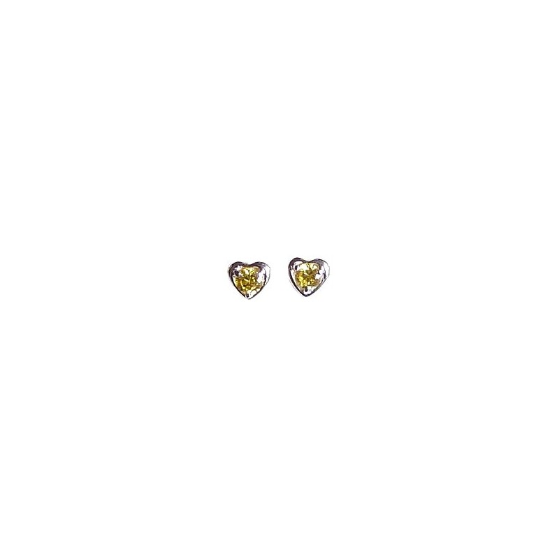 Small Costume Jewellery Mini Earring Studs Fashion Women S Accessories Simple Yellow Diamante Heart Loading Zoom
