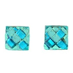 Small Costume Jewellery Mini Earring Studs, Fashion Women Girls Accessories, Simple Blue Faceted Square Rhombus Stud Earrings
