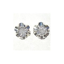 Simple Small Tiny Costume Jewellery Earring Studs, Fashion Women Girls Accessories, Clear Diamante Chic Flower Stud Earrings
