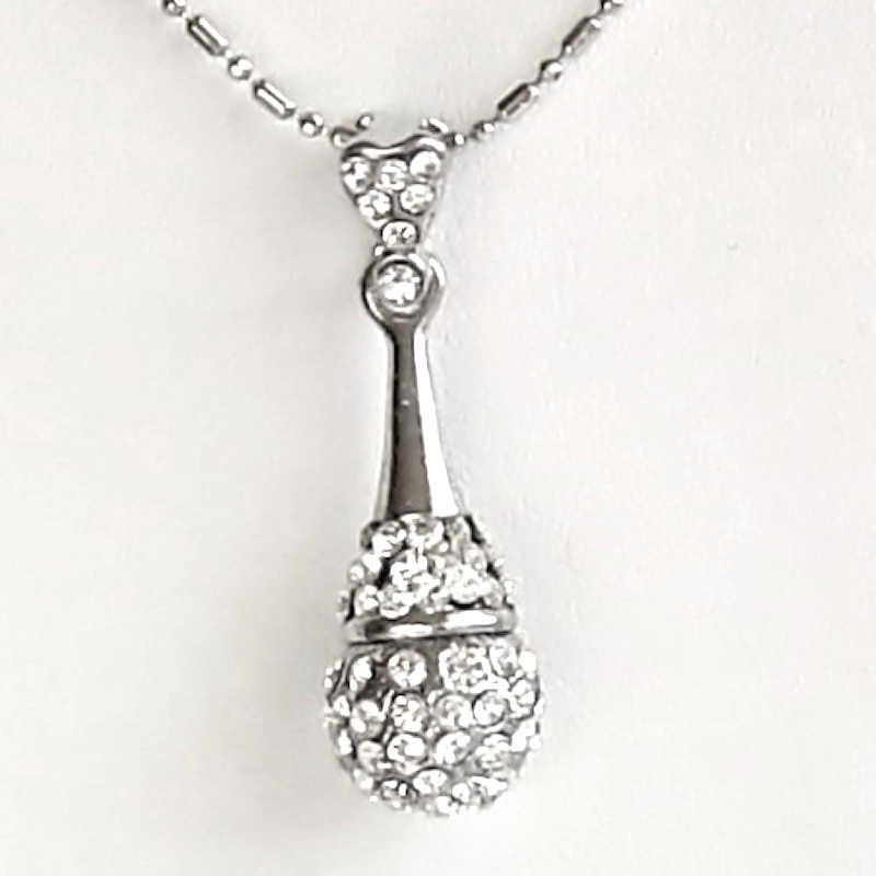 Diamante silver teardrop pendantfashion necklace costume jewellery uk simple costume jewellery fashion necklace clear diamante silver teardrop pendant loading zoom aloadofball Image collections