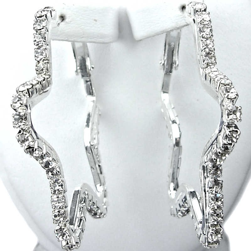 drop earrings dp crystal clear diamante fab dangle bling tear