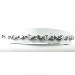Simple Fashion Jewellery, Clear Crystal Heart CZ Dressy Costume Tennis Bracelet