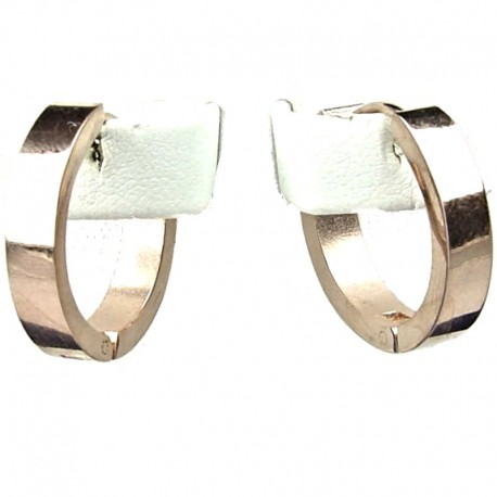 Simple Unisex Costume Jewellery, Rose Gold 2cm Fashion Huggie Hoop Earrings