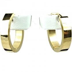Simple Unisex Costume Jewellery, Gold 2cm Fashion Huggie Hoop Earrings