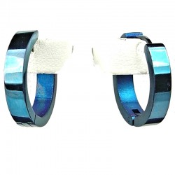Simple Unisex Costume Jewellery, Blue 2cm Fashion Huggie Hoop Earrings
