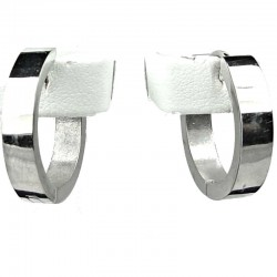 Simple Unisex Costume Jewellery, Fashion Silver 2cm Huggie Hoop Earrings