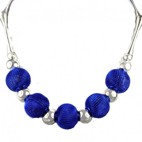 Chic Royal Blue Mesh Ball Cool Fashion Necklace